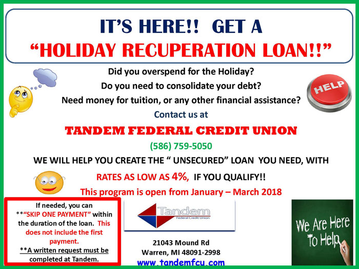 Holiday Recuperation Loans