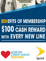 Sprint Rewards through Tandem Federal Credit Union